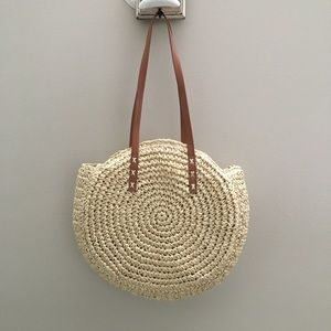Handbags - ROUND STRAW TOTE